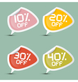 Ten - Twenty Thirty and Forty Percent Off Discount vector image vector image