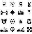 toy icon set vector image vector image