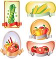 vegetables labels vector image