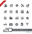 web and mobile icons-2 - basics vector image