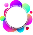 white round background with colorful circles vector image vector image