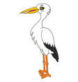 white stork cartoon vector image vector image