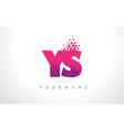 ys y s letter logo with pink purple color and vector image vector image