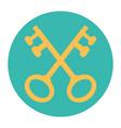 cross keys vector image