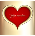 abstract red and golden heart vector image