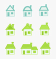 abstract green and blue icons house vector image