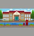 an outdoor scene with school vector image vector image