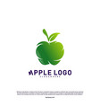 apple logo design concept fruit apple creative vector image