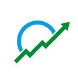 arrow logo growth flat design on a white vector image vector image
