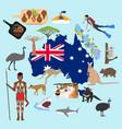 australia travel vector image vector image