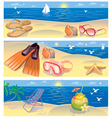 Beach vacation banners vector | Price: 3 Credits (USD $3)