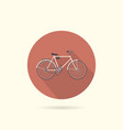 bicycle flat round icon vector image