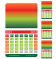 calendar grid july august june vector image
