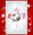 canada soccer flag vector image