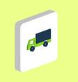 cargo truck computer symbol vector image vector image