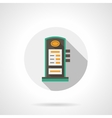 Charging station round flat color icon vector image
