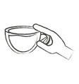 coffee drinks design vector image vector image