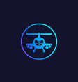 combat helicopter icon in circle vector image vector image