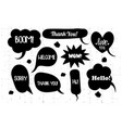 comic book text speech bubble in grunge vector image