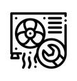 conditioner system repair thin line icon vector image