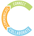 Connect collaborate communicate arrows vector image vector image