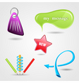 design elements icon set for print or web vector image