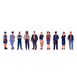 diverse business characters office workers with vector image vector image