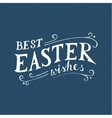 Easter hand drawn lettering vector image vector image