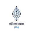 ethereum symbol icon vector image