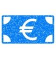 Euro Banknote Grainy Texture Icon vector image vector image