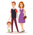 father and mother with son vector image vector image