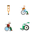 flat icon handicapped set of wheelchair stand vector image vector image
