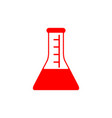 flat line conical flask icon vector image vector image