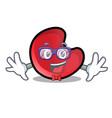 geek candy moon character cartoon vector image