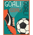 Goal Retro poster in flat design style vector image