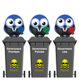 Government Waste Bins vector image vector image