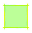 green frame art line watercolor style for banner vector image vector image