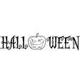Halloween cartoon text vector image vector image