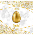 happy easter luxury greeting card with glitter vector image