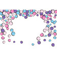 heart dots frame with pop art confetti background vector image