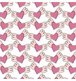 heart love with wings pattern pop art style vector image