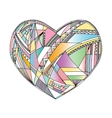 Hearts hand drawn background Abstract vector image vector image
