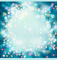 holiday background with a christmas tree vector image vector image