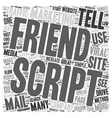 How To Use A Tell A Friend Script To Drive Traffic vector image vector image