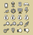 Icons Hand Drawn 2 vector image vector image