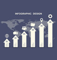 infographic design template with business icons vector image