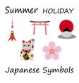 Japan Flat Icons Design Travel Concept vector image