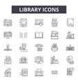 library line icons for web and mobile design vector image vector image