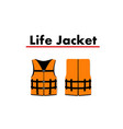 life jacket isolated on white background vector image vector image