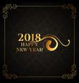 luxury style 2018 happy new year golden vector image vector image